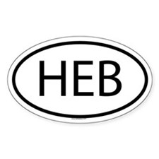 HEB Oval Bumper Stickers