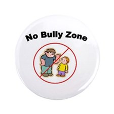 """No Bully Zone 3.5"""" Button (100 pack)"""