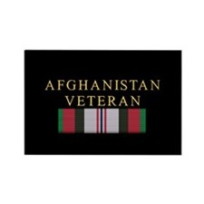 Afghanistan Veteran Rectangle Magnet