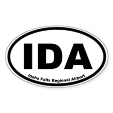 Idaho Falls Regional Airport Oval Decal