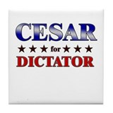 CESAR for dictator Tile Coaster