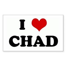 I Love CHAD Rectangle Decal