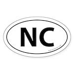 North Carolina NC Auto Sticker -White (Oval)