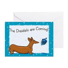 Hanukkah Dreidel Dog Greeting Cards (Pk of 20)