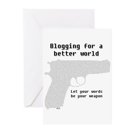 Blogging for a better world Greeting Cards (Packag