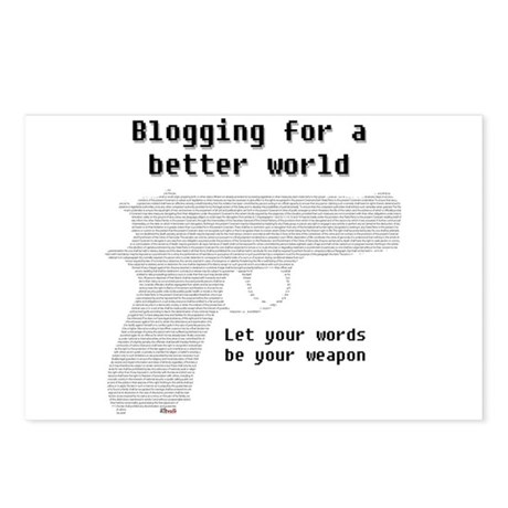 Blogging for a better world Postcards (Package of