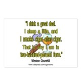 Winston Churchill Cigar Quote Postcards (Package o