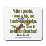 Winston Churchill Cigar Quote Mousepad