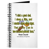 Winston Churchill Cigar Quote Journal