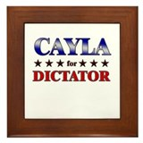 CAYLA for dictator Framed Tile