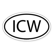 ICW Oval Decal