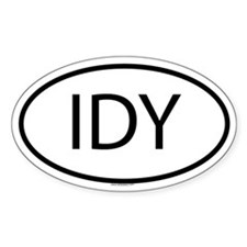 IDY Oval Decal