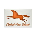Chestnut Mare, Beware! Rectangle Magnet (10 pack)