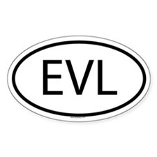 EVL Oval Bumper Stickers