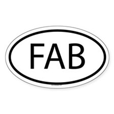 FAB Oval Decal