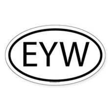 EYW Oval Decal