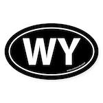 Wyoming WY Auto Sticker -Black (Oval)