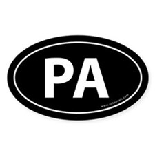 Pennsylvania PA Auto Sticker -Black (Oval)