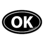 Oklahoma OK Auto Sticker -Black (Oval)