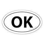 Oklahoma OK Auto Sticker -White (Oval)