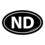 North Dakota ND Auto Sticker -Black (Oval)