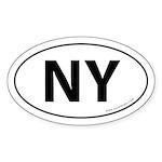 New York NY Auto Sticker -White (Oval)