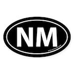 New Mexico NM Auto Sticker -Black (Oval)