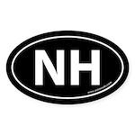 New Hampshire NH Auto Sticker -Black (Oval)