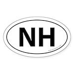 New Hampshire NH Auto Sticker -White (Oval)