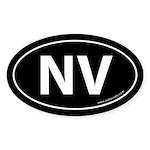 Nevada NV Auto Sticker -Black (Oval)