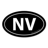 Nevada NV Auto Sticker -Black (Oval)