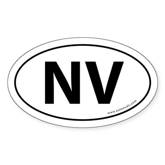 Nevada NV Auto Sticker -White (Oval)