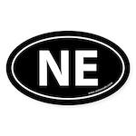 Nebraska NE Auto Sticker -Black (Oval)