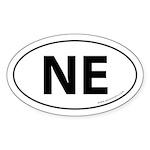 Nebraska NE Auto Sticker -White (Oval)