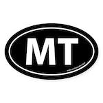 Montana MT Auto Sticker -Black (Oval)