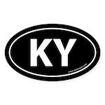 Kentucky KY Auto Sticker -Black (Oval)