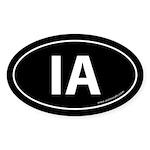 Iowa IA Auto Sticker -Black (Oval)