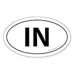Indiana IN Auto Sticker -White (Oval)