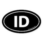 Idaho ID Auto Sticker -Black (Oval)