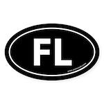 Florida FL Auto Sticker -Black (Oval)