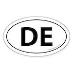 Delaware DE Auto Sticker -White (Oval)