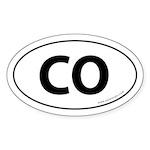 Colorado CO Auto Sticker -White (Oval)