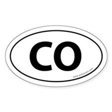 Colorado CO Auto Sticker -White (Oval)