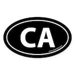 California CA Auto Sticker -Black (Oval)