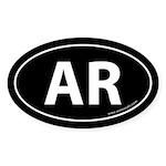Arkansas AR Auto Sticker -Black (Oval)
