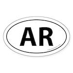 Arkansas AR Auto Sticker -White (Oval)