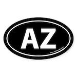 Arizona AZ Auto Sticker -Black (Oval)