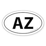 Arizona AZ Auto Sticker -White (Oval)
