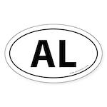 Alabama AL Auto Sticker -White (Oval)