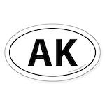 Alaska AK Auto Sticker -White (Oval)